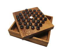 DIAMOND SOLITAIRES, Strategy Wooden Game, Board game, Travel Size Family Game