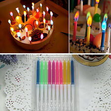 Chic 10 Pcs New Birthday Cake Candles Colored Angel Flame Safe Party Decor Hot
