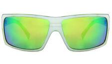 Von Zipper Snark Sunglasses Glasses Matte White Lime Frame Lime Lens Flat