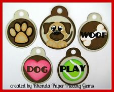 DOG PET TOKEN TAGS paper piecing for Premade Scrapbook Pages Die Cut Rhonda
