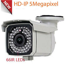 5MP IP Outdoor PoE 66IR Outdoor Security Camera 2.8-12mm Varifocal Lens IP66