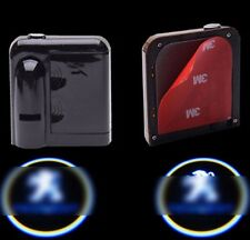 2x Wireless Courtesy Car LED door Projector Logo ghost shadow light for PEUGEOT