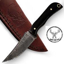Hunt For Life™ Jack Rabbit Full Tang Damascus Skinner Knife