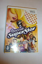 NINTENDO Wii GAME BOOGIE SUPER STAR + BOX & INSTRUCTIONS COMPLETE DISC GREAT PAL