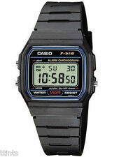 Casio F-91W Style Mens/Womens Resin Classic Retro LCD Digital Sports Alarm Watch