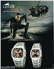 PUBLICITE ADVERTISING 105 2008  LOTUS  collection montres CODE