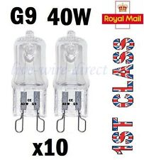 10 x G9 Halogen Light Bulbs Clear Capsule 240V 40W Watt