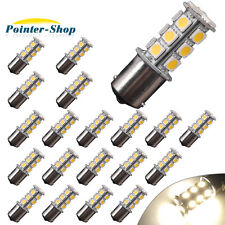 20x Warm White 1156 BA15S 18-LED RV Camper Trailer Backup Reverse Light Bulbs