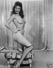 1955 Nude Keeling on hassock portrait Jackie Miller 8 x 10 Photograph