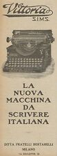 Z3037 Macchina da scrivere VITTORIA S.I.M.S. - Pubblicità d'epoca - 1925 old ad
