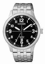 New Citizen Men's Dress Stainless Steel Quartz Date Watch BI1050-81F