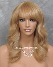 Human Hair Blend Wig HEAT SAFE Soft Wavy Layered Feathered Blonde mix ol 27-613