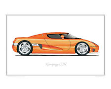 Koenigsegg CCR - Limited Edition Classic Car Print Poster by Steve Dunn