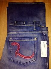 Brand NEW/UNUSED Rock and Republic RED Crystal R Blue Jeans Size 28 Womens w/tag