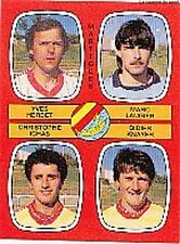 N°429 HERBET / LAUGIER FC.MARTIGUES VIGNETTE PANINI FOOTBALL 87 STICKER 1987