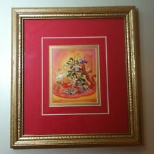 1996 Disney Pooh And Friends Christmas Turks And Caicos Stamp Framed W/COA & Tag