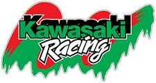 "Kawasaki Racing Nascar Car Bumper Window  Notebook Sticker Decal 6""X3"""