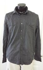 DRILL CLOTHING CO. MENS XL LONG SLEEVE BUTTON FRONT CASUAL PINSTRIPE SHIRT