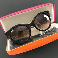 Kate Spade NY Melly/s Cat-eye Sunglasses Tortoise Multi-color Stripes Gradients