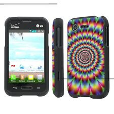 LG Optimus Fuel / Zone 2 Total Cover Phone Case - Psychedelic