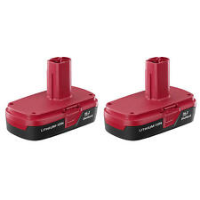 New! Craftsman C3 19.2-Volt Compact Lithium-Ion Battery 2 Pack Set (PP2011x)