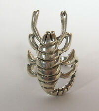 Scorpion Ring Size 10 Solid .925 Sterling Silver Mens Biker Jewelry Bug Insect