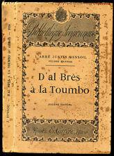 Occitan-Abbé Justin Bessou : D'AL BRES A LA TOUMBO -1934. Aveyron, Rouergue