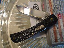 """Case XX Buffalo Horn Sod Buster Jr Pocket Knife 65223 BH137 SS 6 1/2"""" Open New"""
