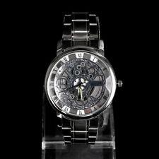 Luxury Men's Mechanical Stainless steel Analog Wrist Watch Sport Silver