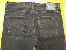 LEVIS 508 BLACK LABEL MEN'S BLACK STRETCH JEANS SZ 33 x 29 Tag 32 x 30 BEST Y48