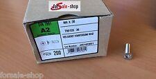 Zylinderschrauben mit Innensechskant A2 DIN 7991 M6x30 200 Stück