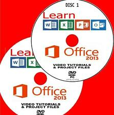 Aprenda Microsoft Office 2013 Simple Video formación Nuevo 2x Pc Dvd palabra Outlook Etc