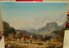 Jorge W Ewerbeck 1979 Painting on Canvas 1979 With Frame Chilean Artist Cowboy