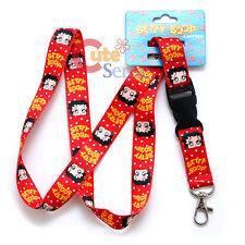 Betty Boop Lanyard  Key Chain ID  Holder Ticket Holder  -Betty Face All Over Dot