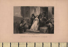 1881 DATED ANTIQUE PRINT ~ MURDER OF THE PRINCESS DE LAMBALLE