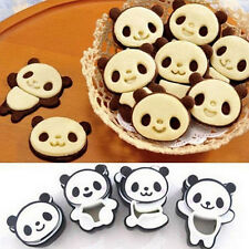 4x Cartoon Panda Cake Cookies Bread Cutter Mold Mould Baking DIY Kitchen Tools