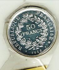 RARE FDC SOUS PLASTIQUE 50 FRANCS HERCULE 1980