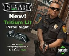 See All Nite Pistol Sight Tritium Open Delta Triangular Sight for Glock & Others