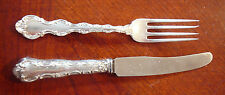 BIRKS REGENCY PLATE LOUIS DE FRANCE RARE YOUTH FORK & YOUTH KNIFE