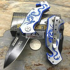 "3.5"" TAC-FORCE Blue Dragon Small Outdoor Hunting Rescue Pocket Knife"