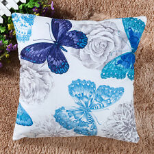 Retro Style Butterfly Home Sofa Decorative Throw Pillow Case Cushion Cover 18''