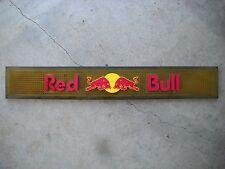 RED BULL OPAQUE YELLOW Rubber Bar Rail Spill Mat MANCAVE ADVERTISEMENT BARTENDER