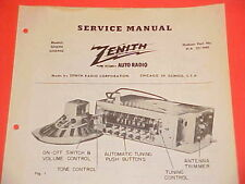 1950 HUDSON PACEMAKER COMMODORE SUPER CONVERTIBLE ZENITH AM RADIO SERVICE MANUAL