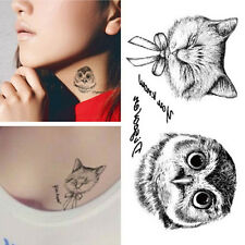 Owl Tattoo Disposable 3D Waterproof Body Art Chic Cat Temporary Tatoo Stickers Z