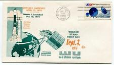 1975 Westar Stamp First Day Western Union Delta Rocket Cape Kennedy Caneveral US