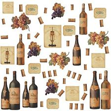 WINE BOTTLES 56 BiG Wall Stickers Dining Room Decor Kitchen Bar Decals Labels