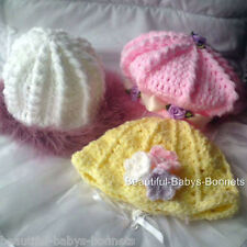 Crochet pattern par beautiful-babys-bonnets pour filles chapeaux / BÉRET / Beanie 0-3yr # 20