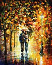 "AUTUMN WALK —  Oil Painting On Canvas By Leonid Afremov. Size: 30""x40"""
