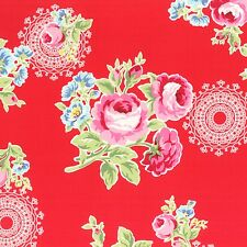 RED FLOWER SUGAR FALL ROSES FLORAL #3552 BTY COTTON QUILT LECIEN JAPAN FABRIC