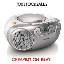 Philips AZ127/05 Portable Boombox - FM Radio Cd Player Audio In Cassette Deck